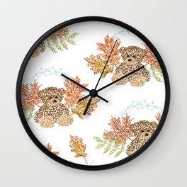 Autumn Bears Wall Clock