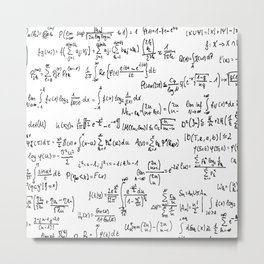 Math Equations Metal Print