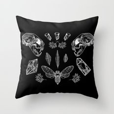Crooked Teeth Throw Pillow