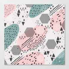 Geometric shapes & strokes Canvas Print
