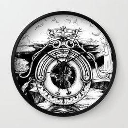 The weight of a soul Wall Clock