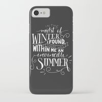 camus iPhone & iPod Cases featuring Albert Camus - In the Midst of Winter by Amber Serene