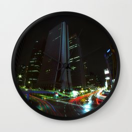 Nightfall in Tokyo Wall Clock