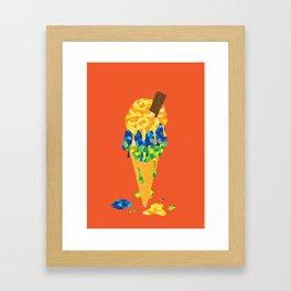 Brazilian Icecream Framed Art Print