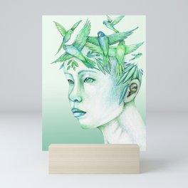 The free thoughts Mini Art Print