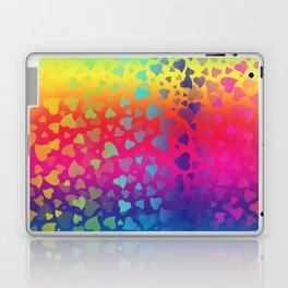 Hearts Rainbow Laptop & iPad Skin
