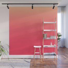 Coral Pink Ombre Wall Mural