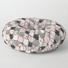 Rose Gold Blush Mermaid Princess Glitter Scales #1 #shiny #decor #art #society6 Floor Pillow