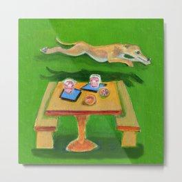 Greyhound Spirit, an Animal Spirit painting Metal Print