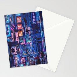 Landscape Art - Cyberpunk City Stationery Cards