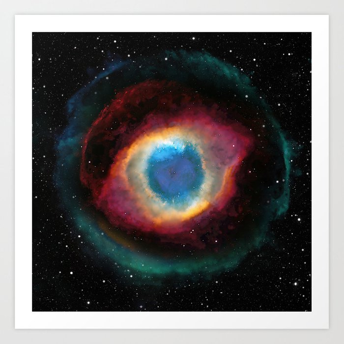 Helix (Eye of God) Nebula Kunstdrucke