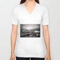 scotland V-neck T-shirts featuring Cramond, Scotland by Mara Brioni Art Photography