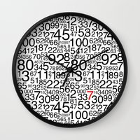 numbers Wall Clocks featuring Numbers by Marissa Regelin