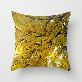 Liquid Amber Autumn Vibes Abstract Throw Pillow