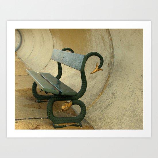 Serpent Seat Art Print