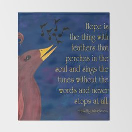 A Song of Hope Throw Blanket