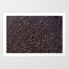 Black Sand IV (Red) Art Print