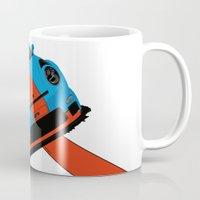 porsche Mugs featuring Gulf Porsche by SABIRO DESIGN