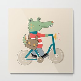 Croc Metal Print