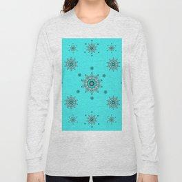 Snowflake - Aqua Long Sleeve T-shirt