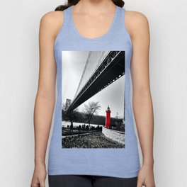 The Little Red Lighthouse - George Washington Bridge NYC Unisex Tank Top