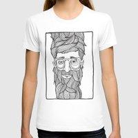 beard T-shirts featuring Beard by Lawerta