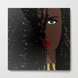 Iolana Black Queen Fashion art Metal Print