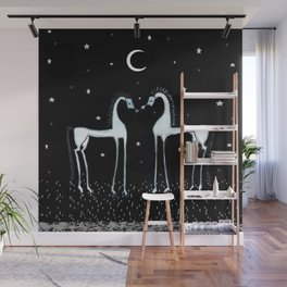 Horses under the moon Wall Mural