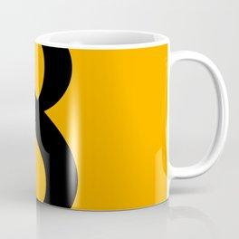 8 (BLACK & ORANGE NUMBERS) Coffee Mug