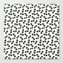 Skateboard pattern black white Canvas Print