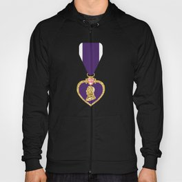 Purple Heart Pendant Necklace Hoody