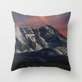Sunrise over the Gore Range Throw Pillow