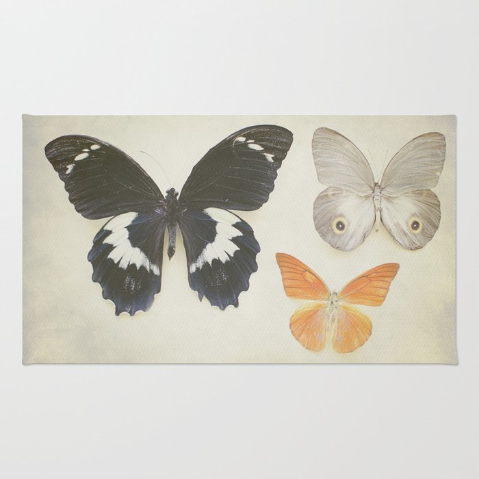 Brown Butterflies  Rug