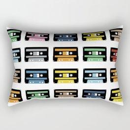 Rainbow Black Tapes Rectangular Pillow