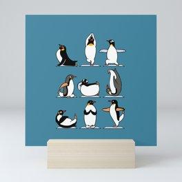 Penguin Yoga Mini Art Print