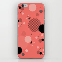 Coral Dots iPhone Skin