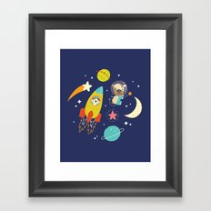 Space Critters Framed Art Print