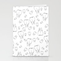 tooth Stationery Cards featuring Tooth by Mafe Oropeza