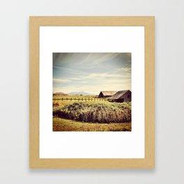 Above the Mountain Framed Art Print