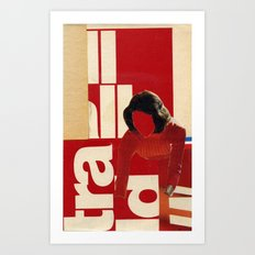 Red in the face Art Print