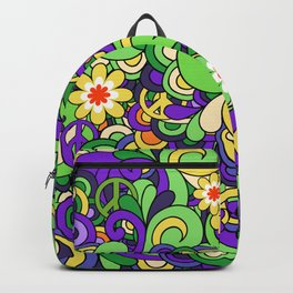 Colorful Hippie Swirl Pattern 3 Backpack