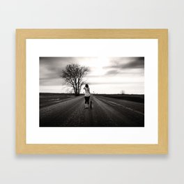 I walk the Line Framed Art Print
