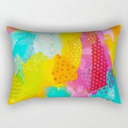 Summer Fun II Mixed Media Collage Rectangular Pillow