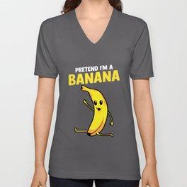 Pretend I'm A Banana Gymnastics Pun Unisex V-Neck