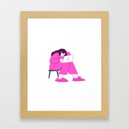 "signing off emails with ""best"" Framed Art Print"