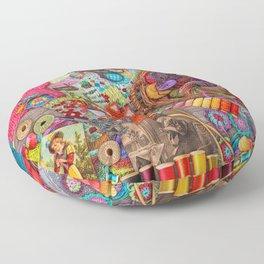 Vintage Yarn & Thread Floor Pillow