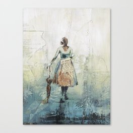 Her Red Umbrella Canvas Print