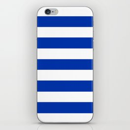 UA blue - solid color - white stripes pattern iPhone Skin