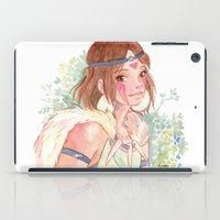 princess mononoke iPad Cases featuring Princess Mononoke by Ékara