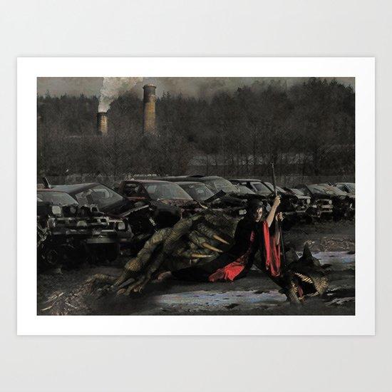 Urban Dragon Slayer Art Print